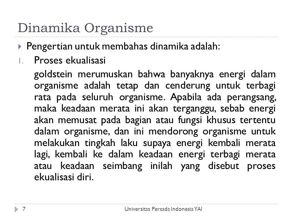 Dinamika Organisme Pengertian untuk membahas dinamika adalah: