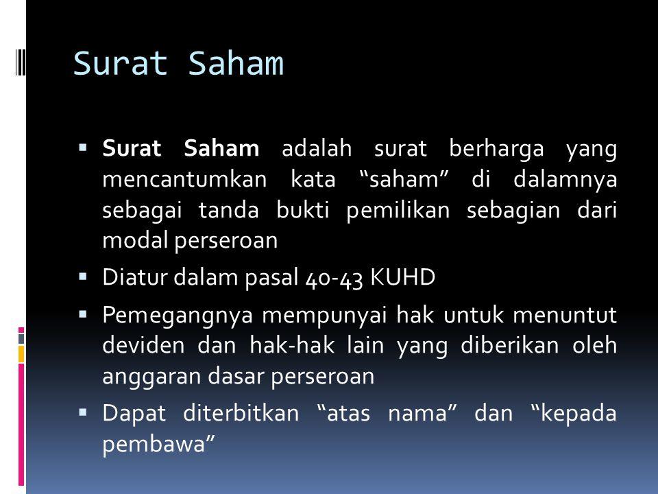Surat Saham