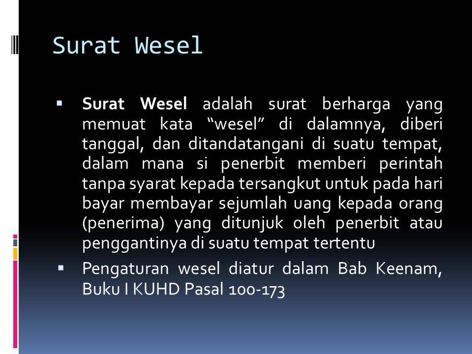 Surat Wesel