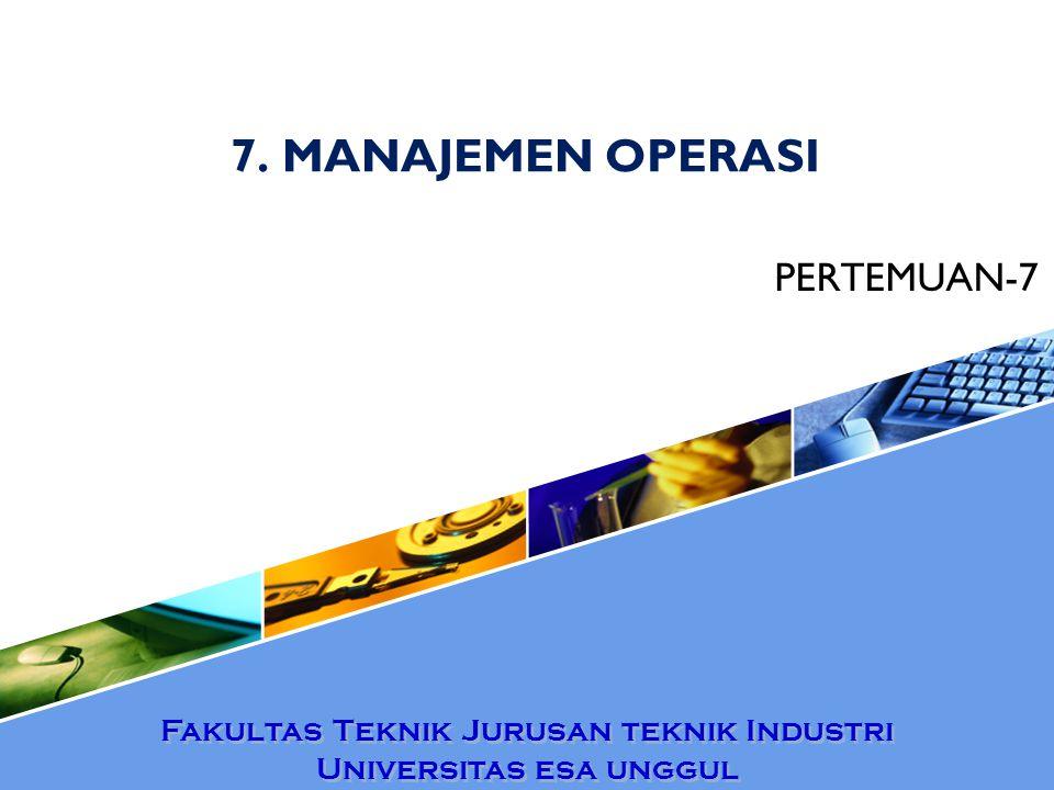 7. MANAJEMEN OPERASI PERTEMUAN-7