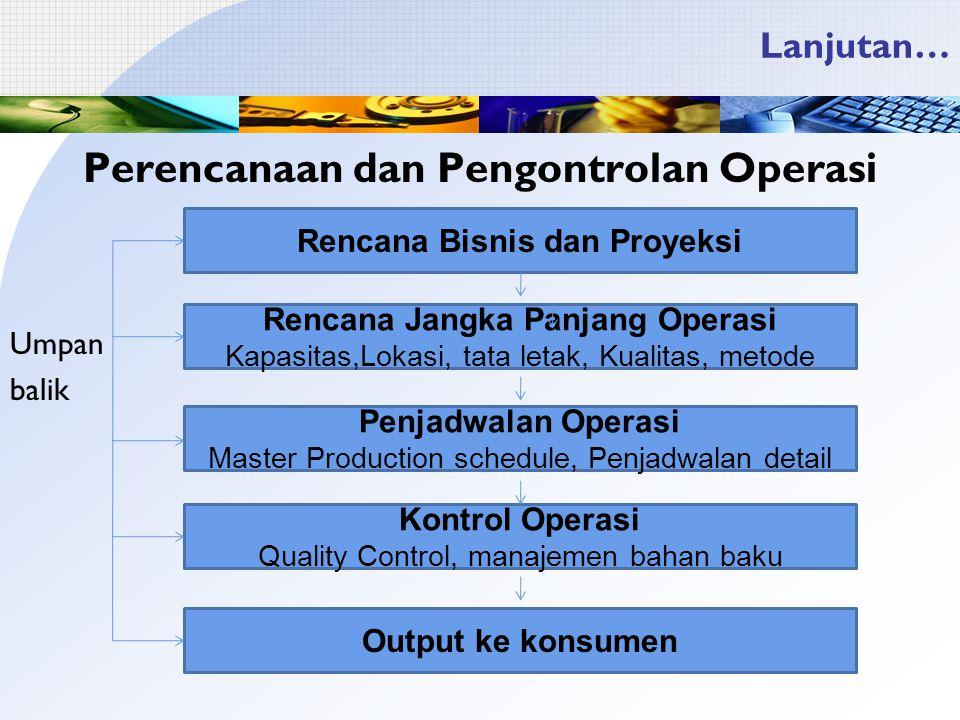 Perencanaan dan Pengontrolan Operasi