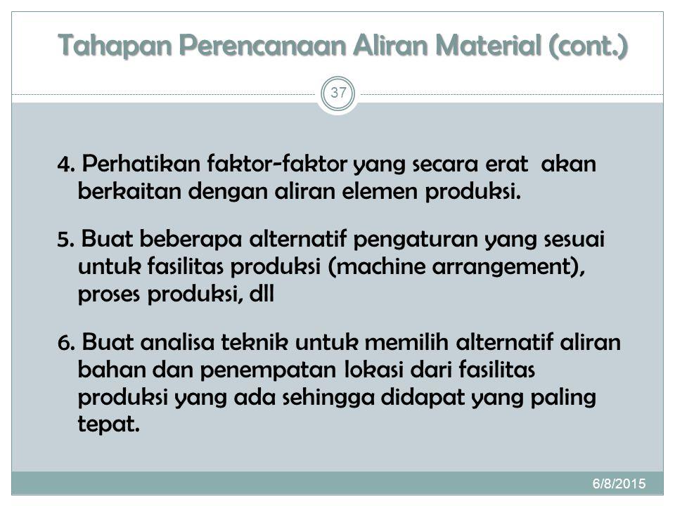 Tahapan Perencanaan Aliran Material (cont.)