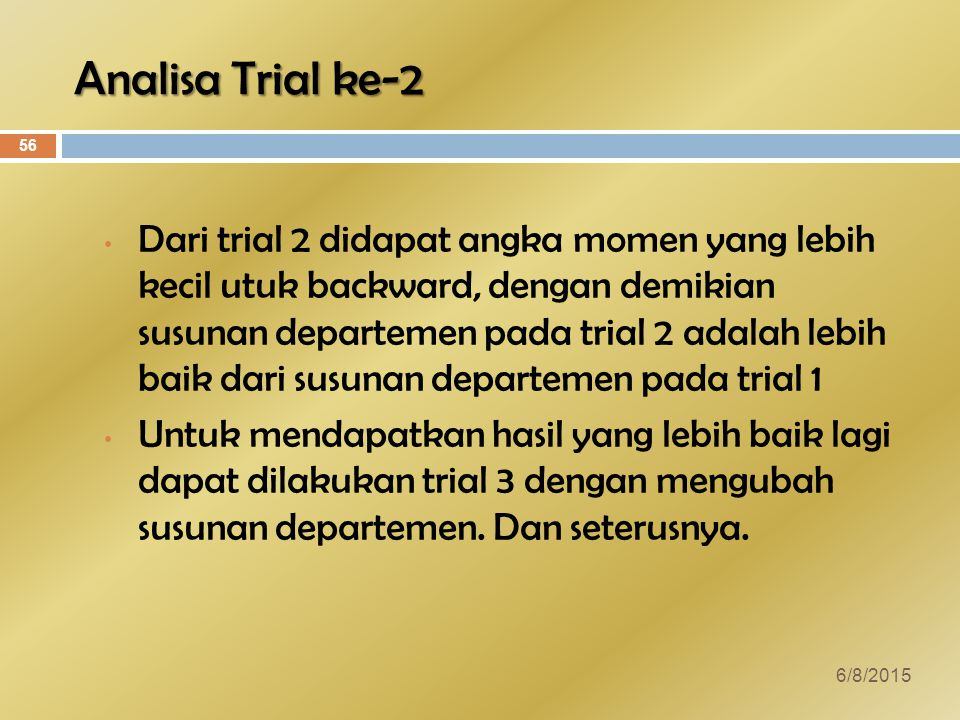 Analisa Trial ke-2