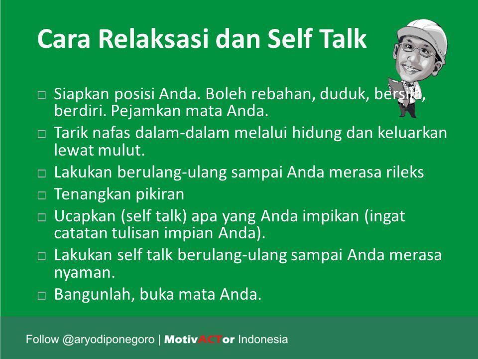Cara Relaksasi dan Self Talk