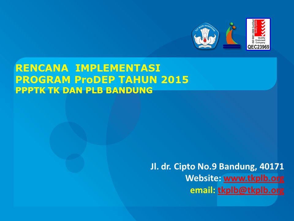 RENCANA IMPLEMENTASI PROGRAM ProDEP TAHUN 2015 PPPTK TK DAN PLB BANDUNG