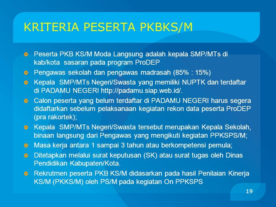 KRITERIA PESERTA PKBKS/M