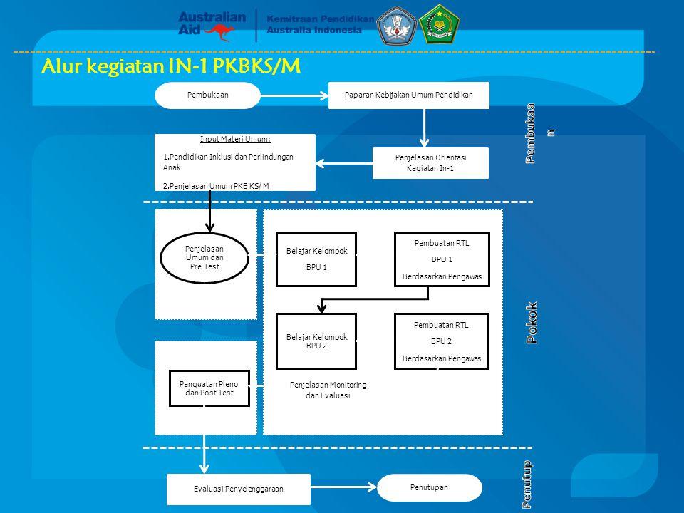 Alur kegiatan IN-1 PKBKS/M