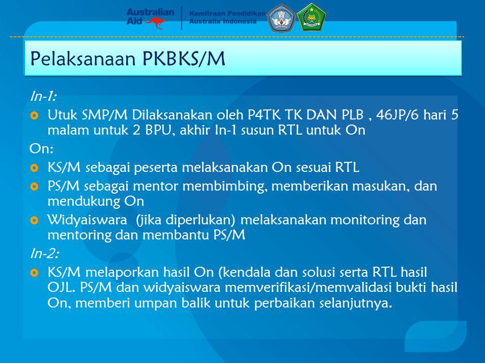 Pelaksanaan PKBKS/M In-1: