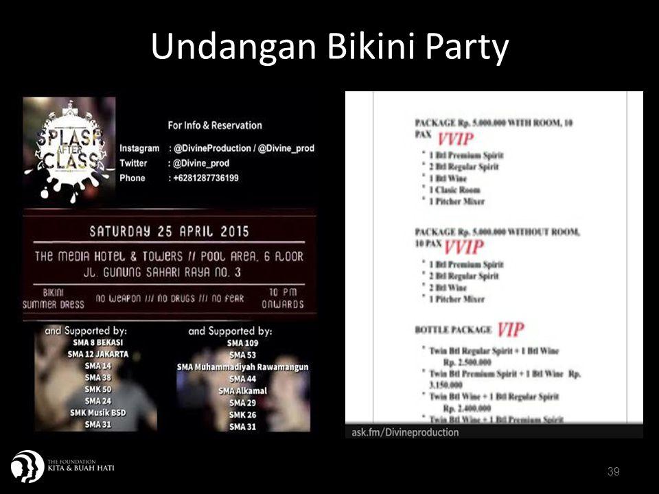 Undangan Bikini Party