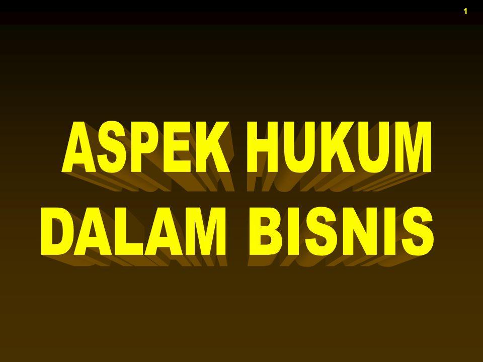 ASPEK HUKUM DALAM BISNIS