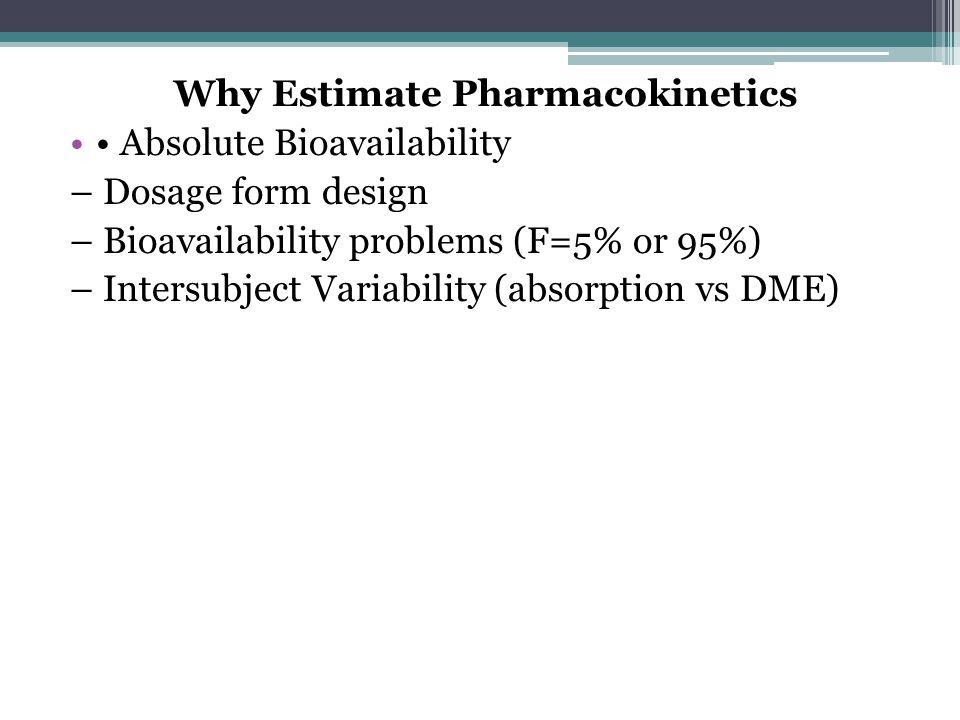 Why Estimate Pharmacokinetics