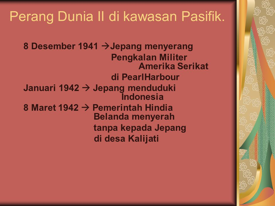 Perang Dunia II di kawasan Pasifik.