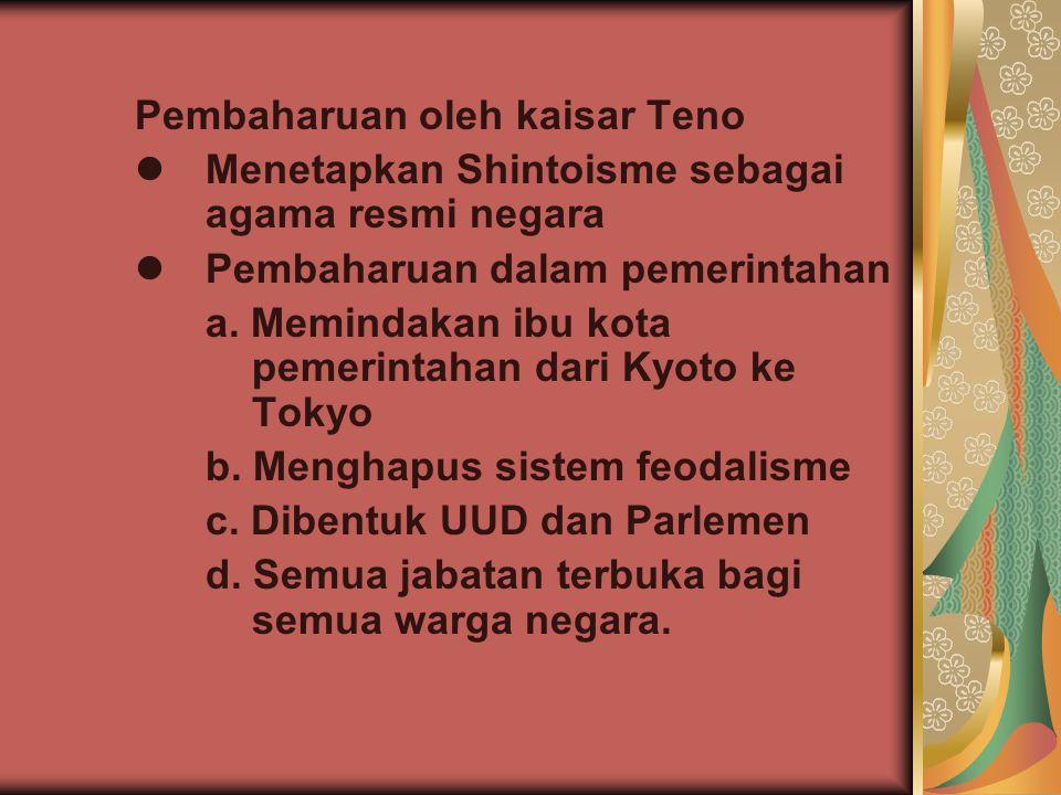 Pembaharuan oleh kaisar Teno