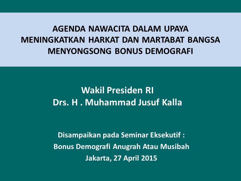 Wakil Presiden RI Drs. H . Muhammad Jusuf Kalla