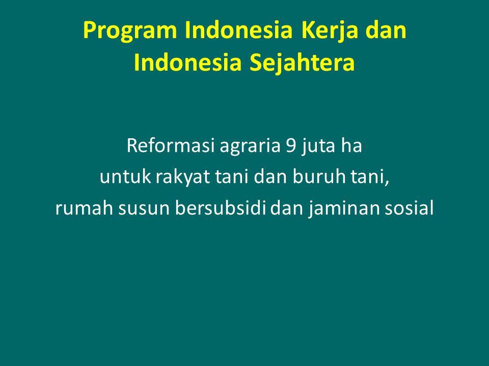 Program Indonesia Kerja dan Indonesia Sejahtera