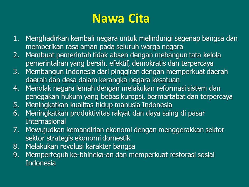 Nawa Cita Menghadirkan kembali negara untuk melindungi segenap bangsa dan memberikan rasa aman pada seluruh warga negara.