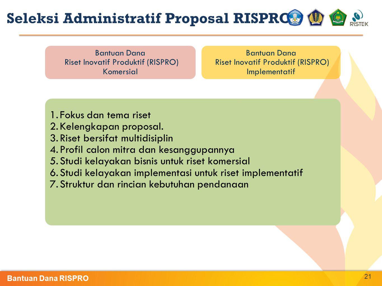 Seleksi Administratif Proposal RISPRO