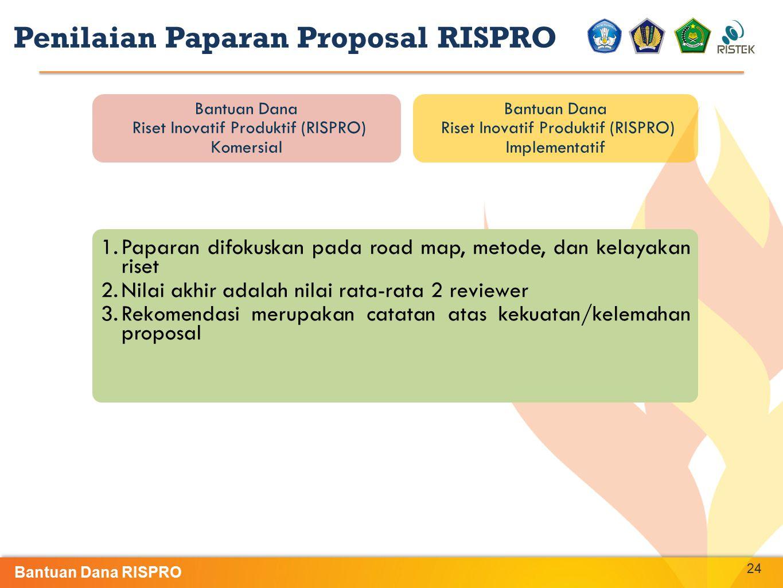 Penilaian Paparan Proposal RISPRO