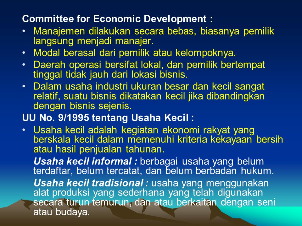 Committee for Economic Development :