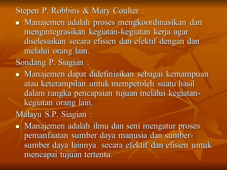 Stepen P. Robbins & Mary Coulter :