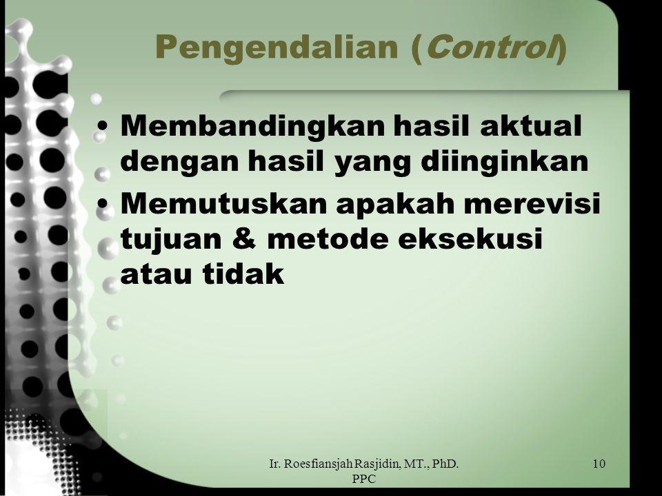 Pengendalian (Control)