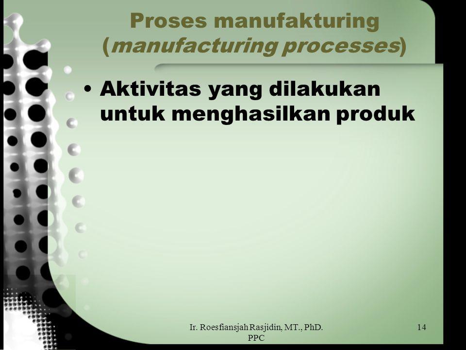 Proses manufakturing (manufacturing processes)