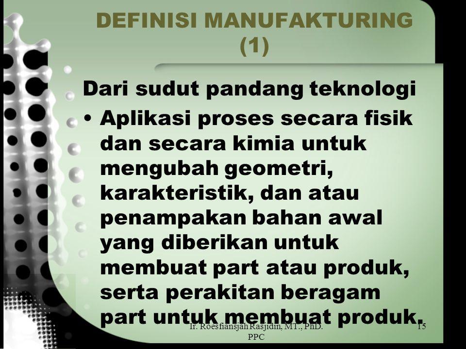 DEFINISI MANUFAKTURING (1)