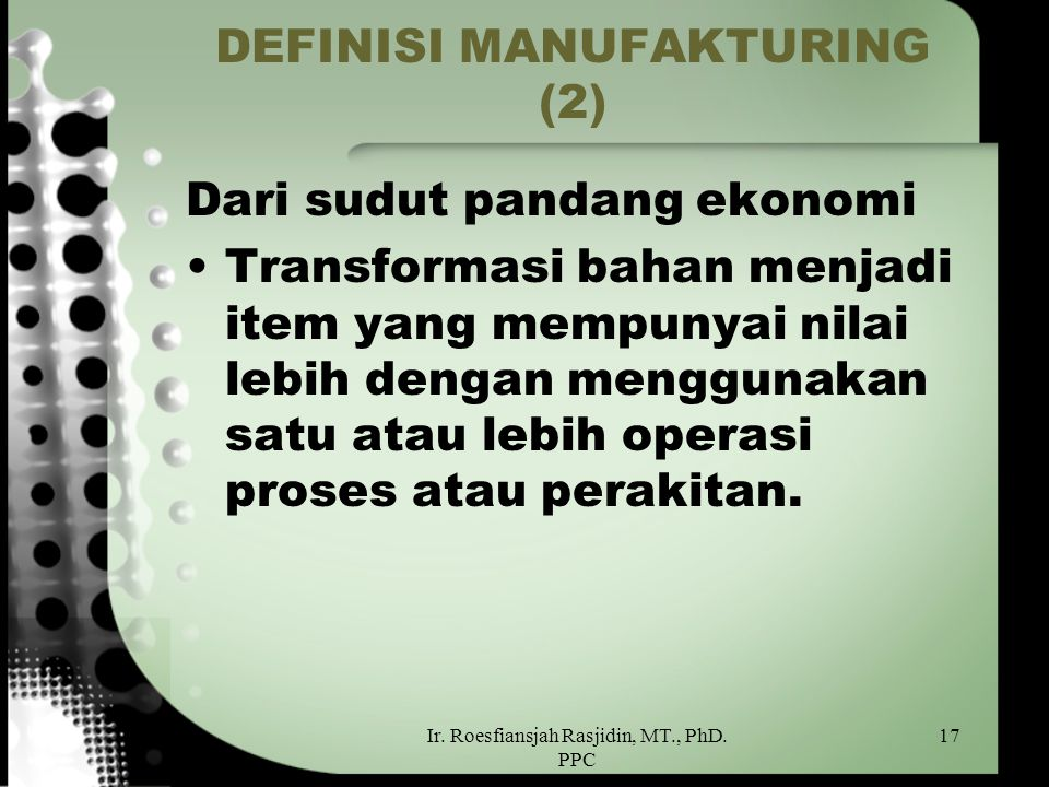 DEFINISI MANUFAKTURING (2)
