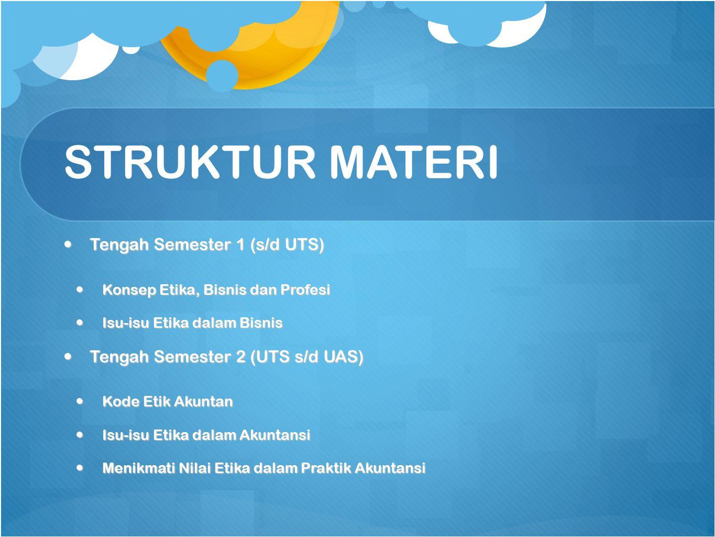 STRUKTUR MATERI Tengah Semester 1 (s/d UTS)