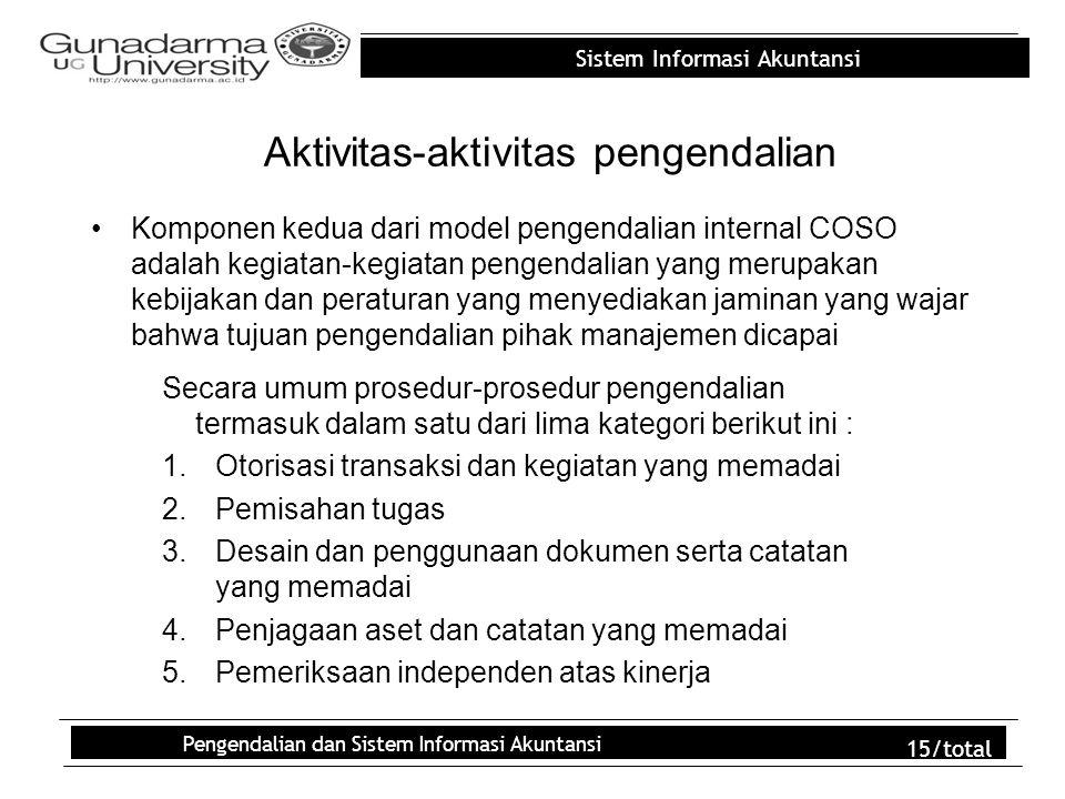 Aktivitas-aktivitas pengendalian