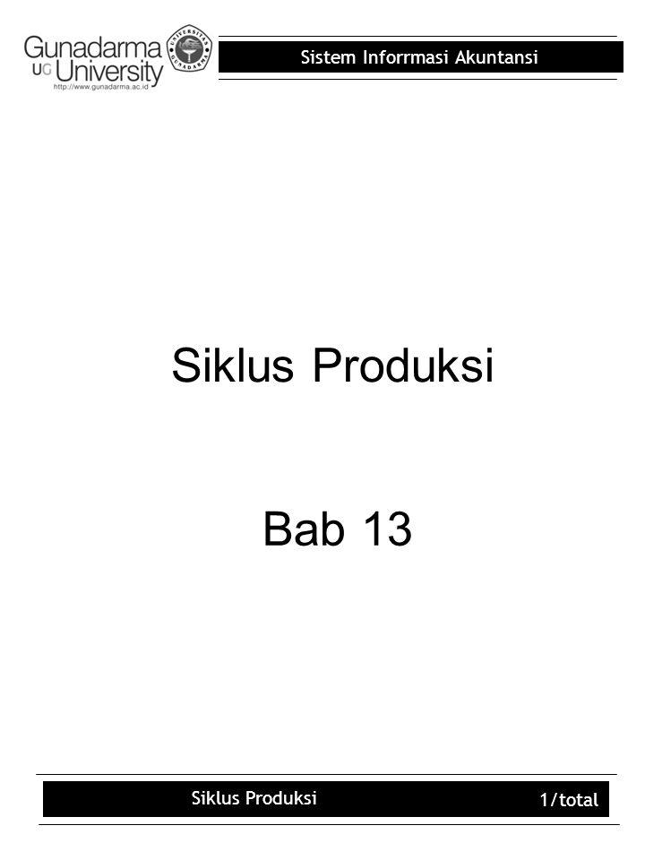 Siklus Produksi Bab 13 Siklus Produksi