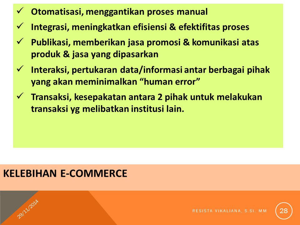 Kelebihan E-Commerce Otomatisasi, menggantikan proses manual
