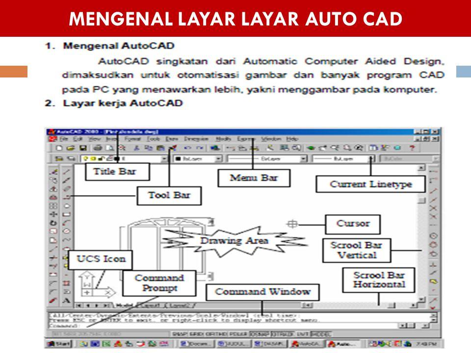 MENGENAL LAYAR LAYAR AUTO CAD