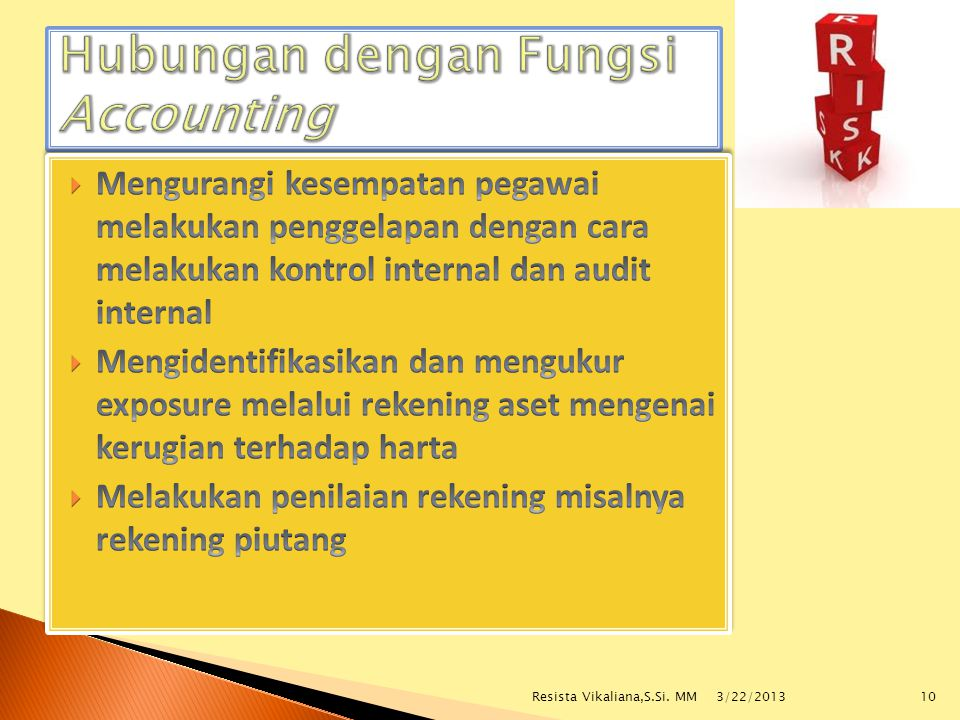 Hubungan dengan Fungsi Accounting