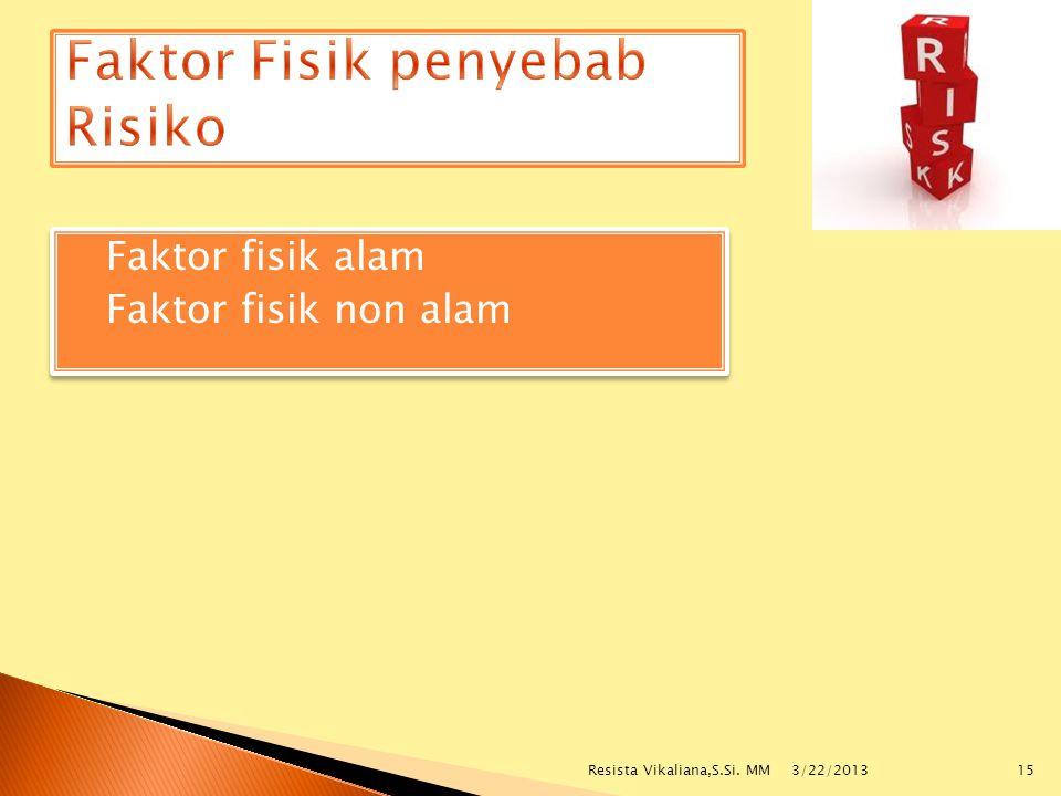 Faktor Fisik penyebab Risiko