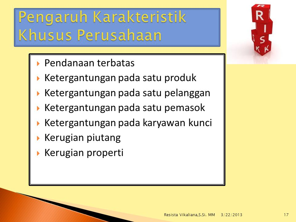 Pengaruh Karakteristik Khusus Perusahaan