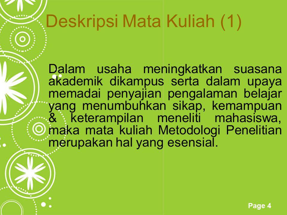 Deskripsi Mata Kuliah (1)