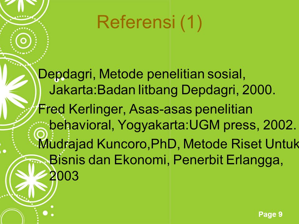 Referensi (1)