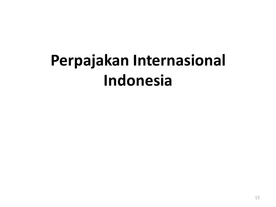 Perpajakan Internasional Indonesia