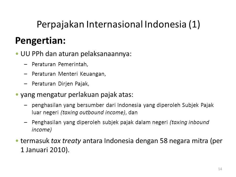 Perpajakan Internasional Indonesia (1)