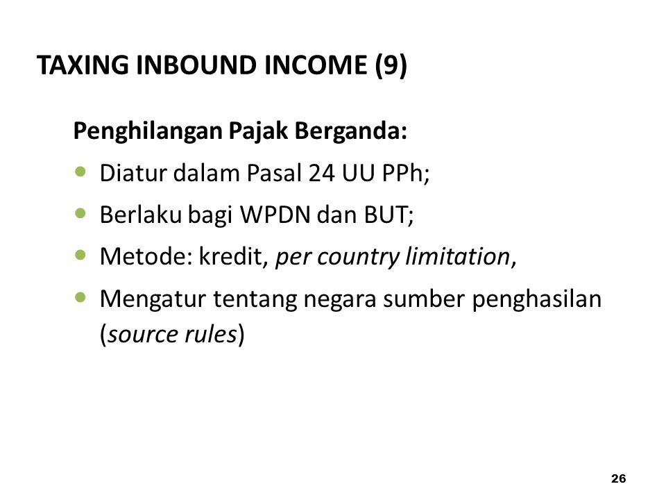TAXING INBOUND INCOME (9)