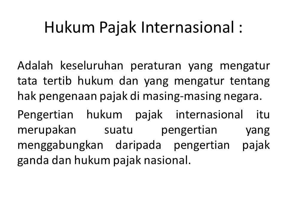 Hukum Pajak Internasional :