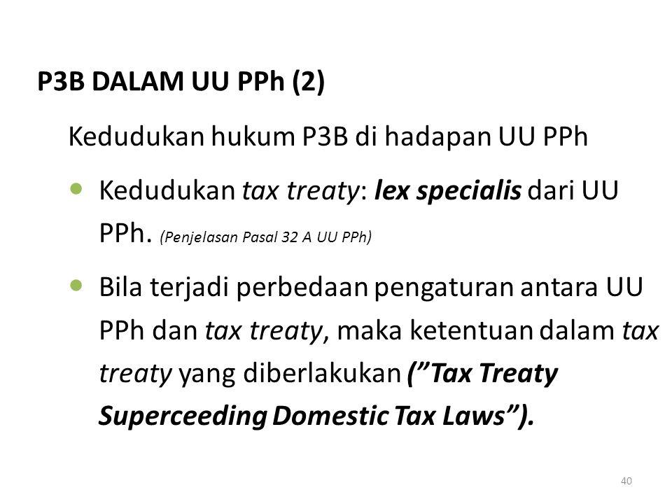 Kedudukan hukum P3B di hadapan UU PPh