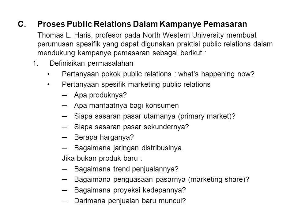 Proses Public Relations Dalam Kampanye Pemasaran