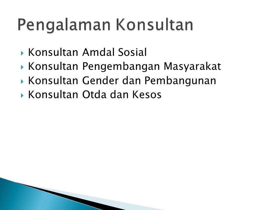 Pengalaman Konsultan Konsultan Amdal Sosial