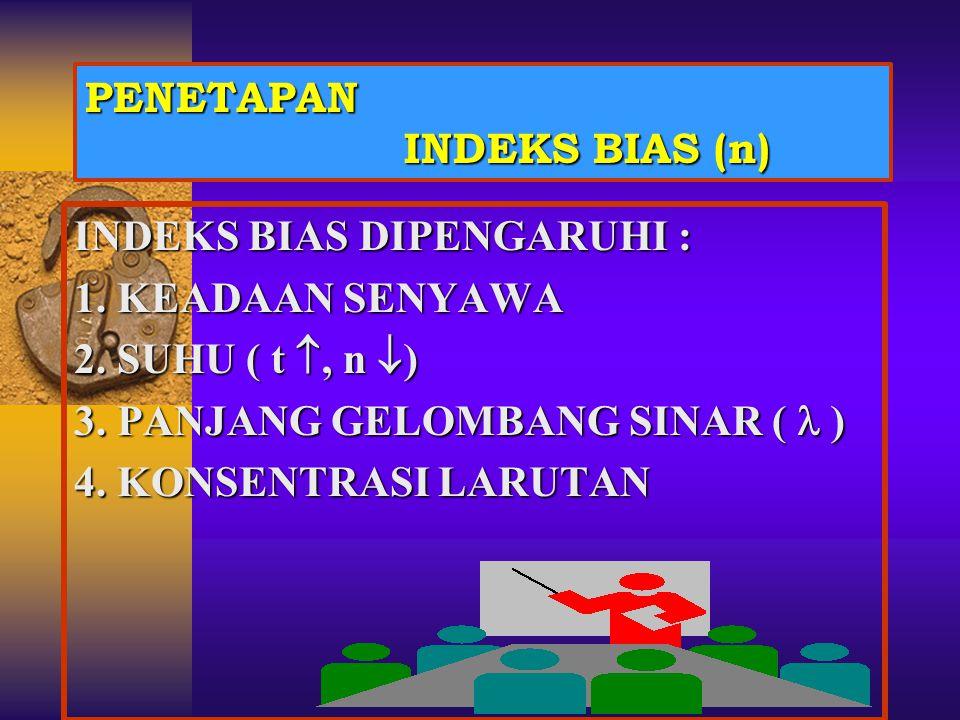 PENETAPAN INDEKS BIAS (n)