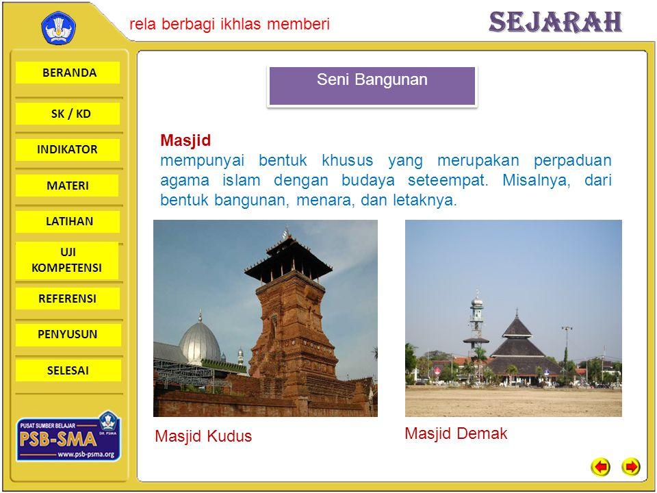 Seni Bangunan Masjid.