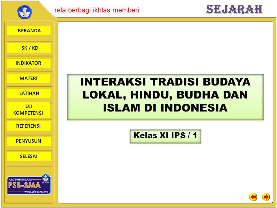 INTERAKSI TRADISI BUDAYA LOKAL, HINDU, BUDHA DAN ISLAM DI INDONESIA
