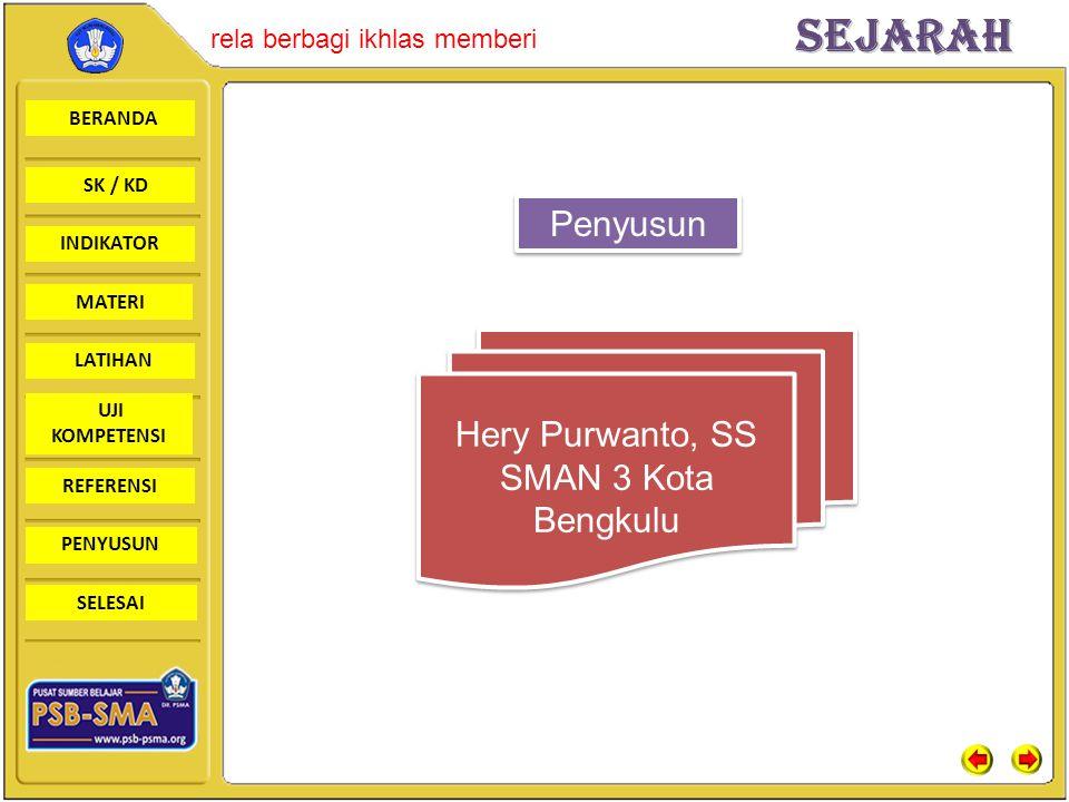Penyusun Hery Purwanto, SS SMAN 3 Kota Bengkulu