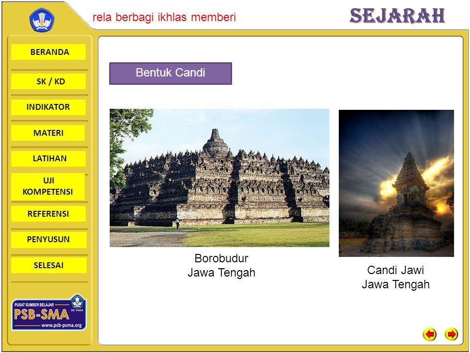 Bentuk Candi Borobudur Jawa Tengah Candi Jawi Jawa Tengah